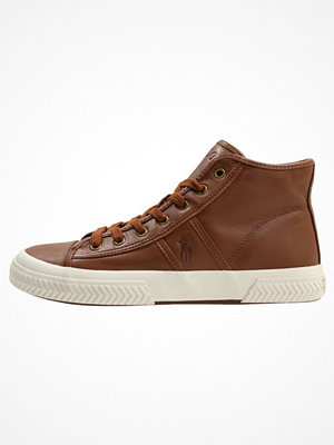 Polo Ralph Lauren TREMAYNE Höga sneakers deep polo tan