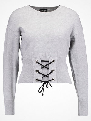 Topshop B&B CORSET  Stickad tröja grey