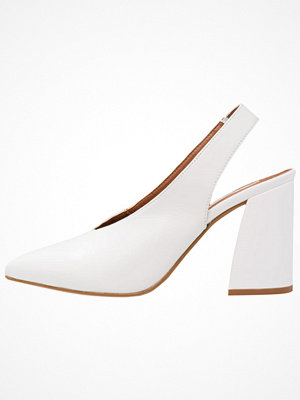 Topshop B&B GEORGIA FLARE Klassiska pumps white