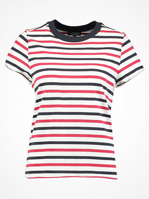 Topshop STRIPE ROLL BACK  Tshirt med tryck red