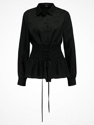 Lost Ink B&&B CORSET WAISTED  Skjorta black