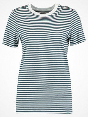 Selected Femme SFMY PERFECT BOX CUT STRIPE Tshirt med tryck orion blue/bright white