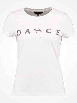 Vero Moda VMDANCESTUDIO Tshirt med tryck snow white/black