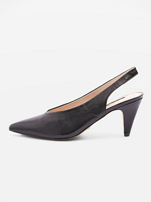 Topshop JETSET V CUT SLING Pumps black