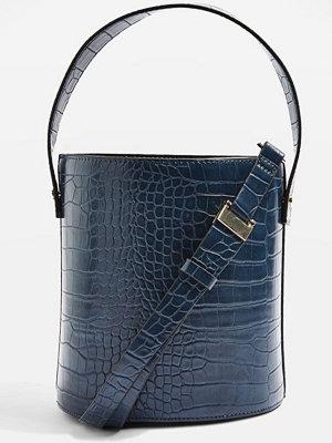 Topshop CHERRY TRUE BUCKET  Handväska blue