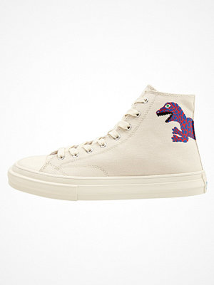 Ps By Paul Smith KIRK Höga sneakers off white cotton canvas