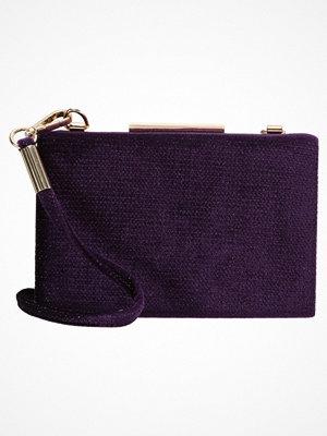 Dorothy Perkins Kuvertväska purple omönstrad