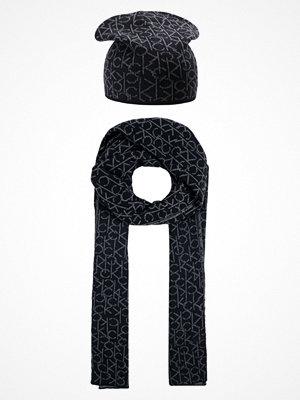 Calvin Klein POWER LOGO GIFTSET Halsduk black