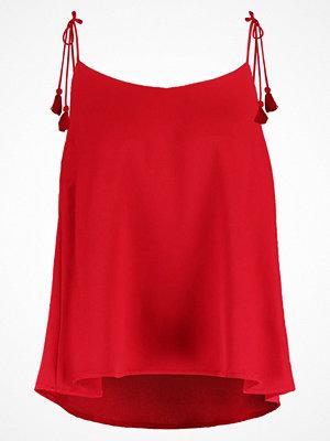 Linnen - Glamorous Linne deep red