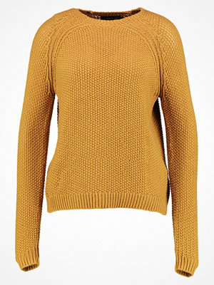 Even&Odd SEOUL RAGLAN BUBBLE STITCH Stickad tröja mustard