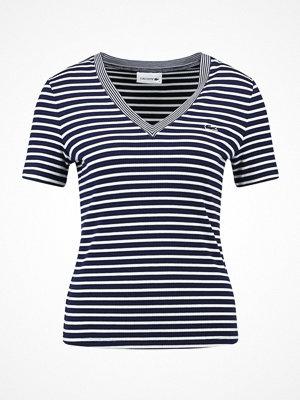 Lacoste RINGEL Tshirt med tryck navy blue/flour