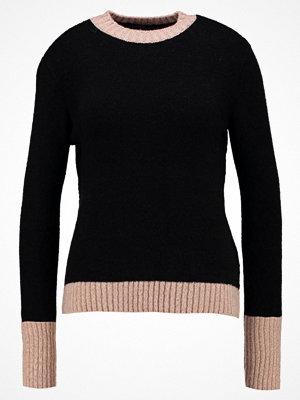Even&Odd Stickad tröja rose/black