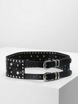 Bälten & skärp - Topshop STAR STUD CINCH BELT Skärp black