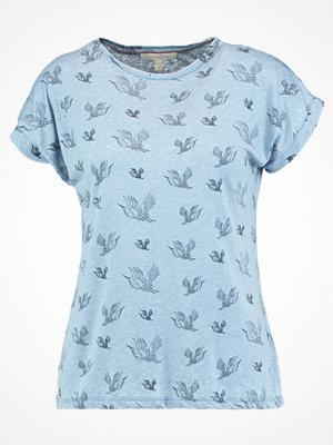 Tom Tailor Denim BURNOUT TSHIRT Tshirt med tryck greyish mid blue
