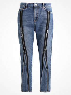 Topshop B&B ZIP FRONT Jeans slim fit blue