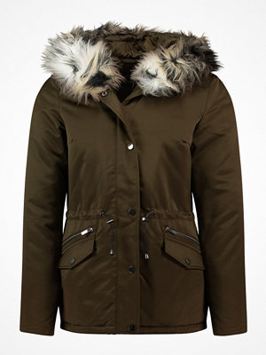 Dorothy Perkins ANIMAL LUXE Parkas dark green