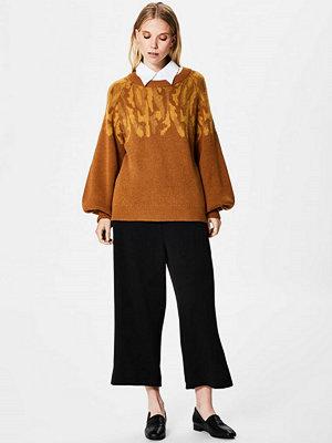 Selected Femme SFDRAMA  Stickad tröja golden brown/chai tea
