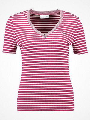 Lacoste RINGEL Tshirt med tryck beaujolais