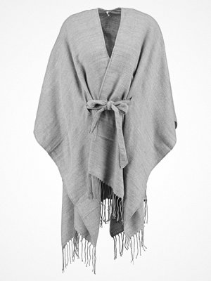 Only Poncho light grey melange