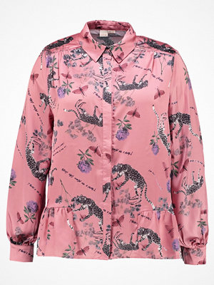 Lost Ink Plus PRINTED DROP HEM SHIRT Skjorta multi