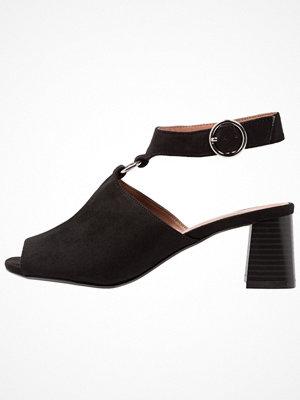 Topshop DAZZLE RING FRONT  Sandaler & sandaletter black