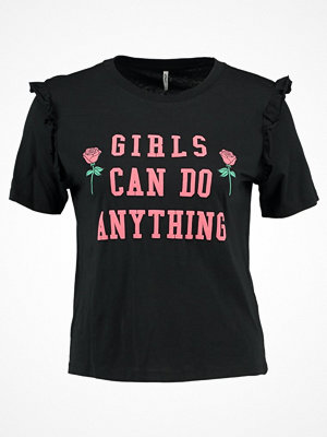 Only ONLGIRLS RUFFLE PRINT Tshirt med tryck black