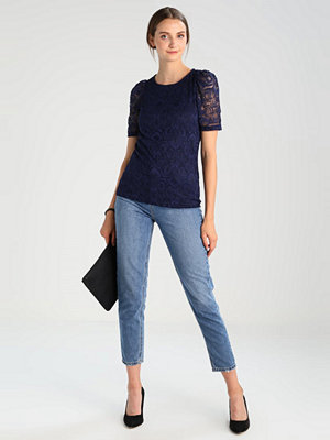 Dorothy Perkins PUFF SLEEVE LACE TEE Blus navy blue