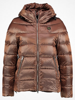 Blauer METALLIC Dunjacka brown