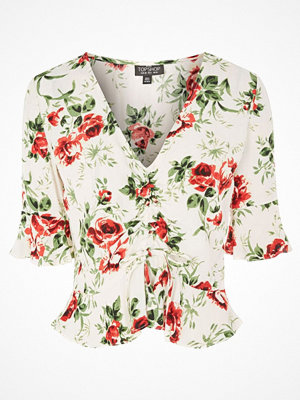 Blusar - Topshop Petite ROSE RUBY RUCHED Blus ivory