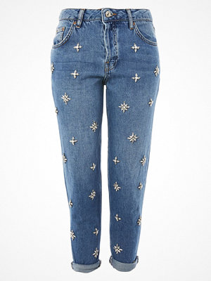 Topshop GEMSTONE HAYDEN Jeans relaxed fit blue