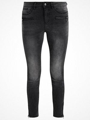 Vero Moda SLIM ANKLE ZIP Jeans Skinny Fit black