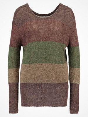 See U Soon COLOUR BLOCK  Stickad tröja brown