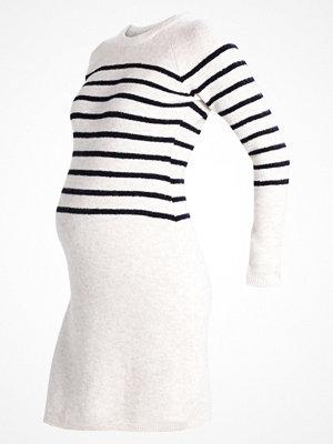 Anna Field MAMA Stickad klänning offwhite/blue