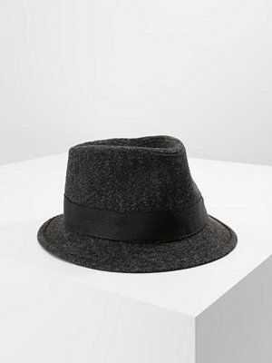 Hattar - Levi's® HERRINGBONE TRILBY BLACK OUTSIDE BAND Hatt dark grey
