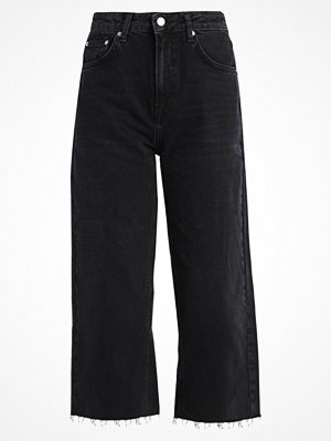 Topshop CROP  Flared jeans black