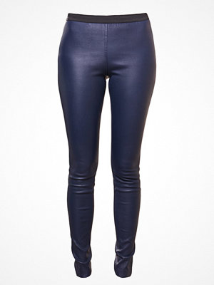 Leggings & tights - Designers Remix ETTA Skinnbyxor navy