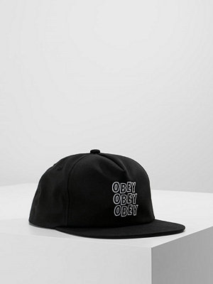 Kepsar - Obey Clothing REPETITION SNAPBACK  Keps black/white