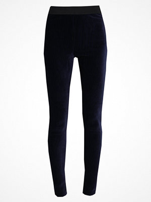 Free People HERE WE GO STRIPED VELVET LEGGING Leggings navy