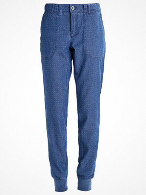 s.Oliver RED LABEL omönstrade byxor Chinos air blue