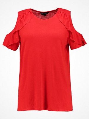 Dorothy Perkins Curve COLD SHOULDER RUFFLE Tshirt bas red