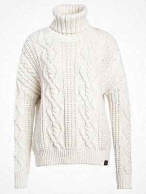 Superdry ESMAY CABLE  Stickad tröja cream