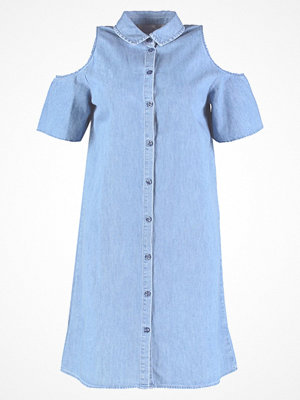 Dorothy Perkins RUFFLE RUFFLE WRAP Jeansklänning blue