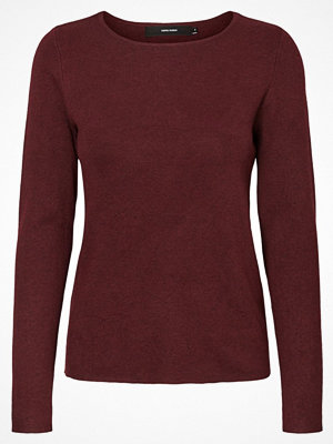Vero Moda VMGLORY FULLNEEDLE Stickad tröja zinfandel melange