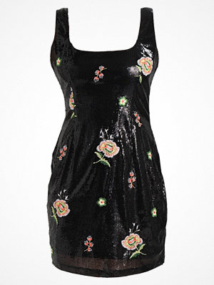 Missguided SEQUIN FLORAL SCOOP NECK Cocktailklänning black
