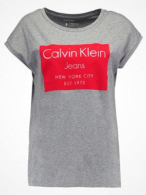 Calvin Klein Jeans TIKA Tshirt med tryck mid grey heather