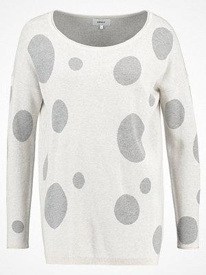 Only ONLVALENTINE  Stickad tröja whitecap gray