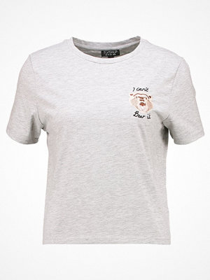 Topshop I CANT BEAR IT Tshirt med tryck greymarl