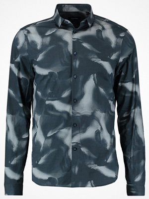Skjortor - Calvin Klein GILT CONTOUR PRINT SLIM FIT Skjorta true navy