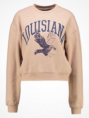Topshop LOUISIANNA CROP    Sweatshirt camel