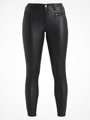 Fashion Union Petite EVA BIKER COATED Jeans Skinny Fit black